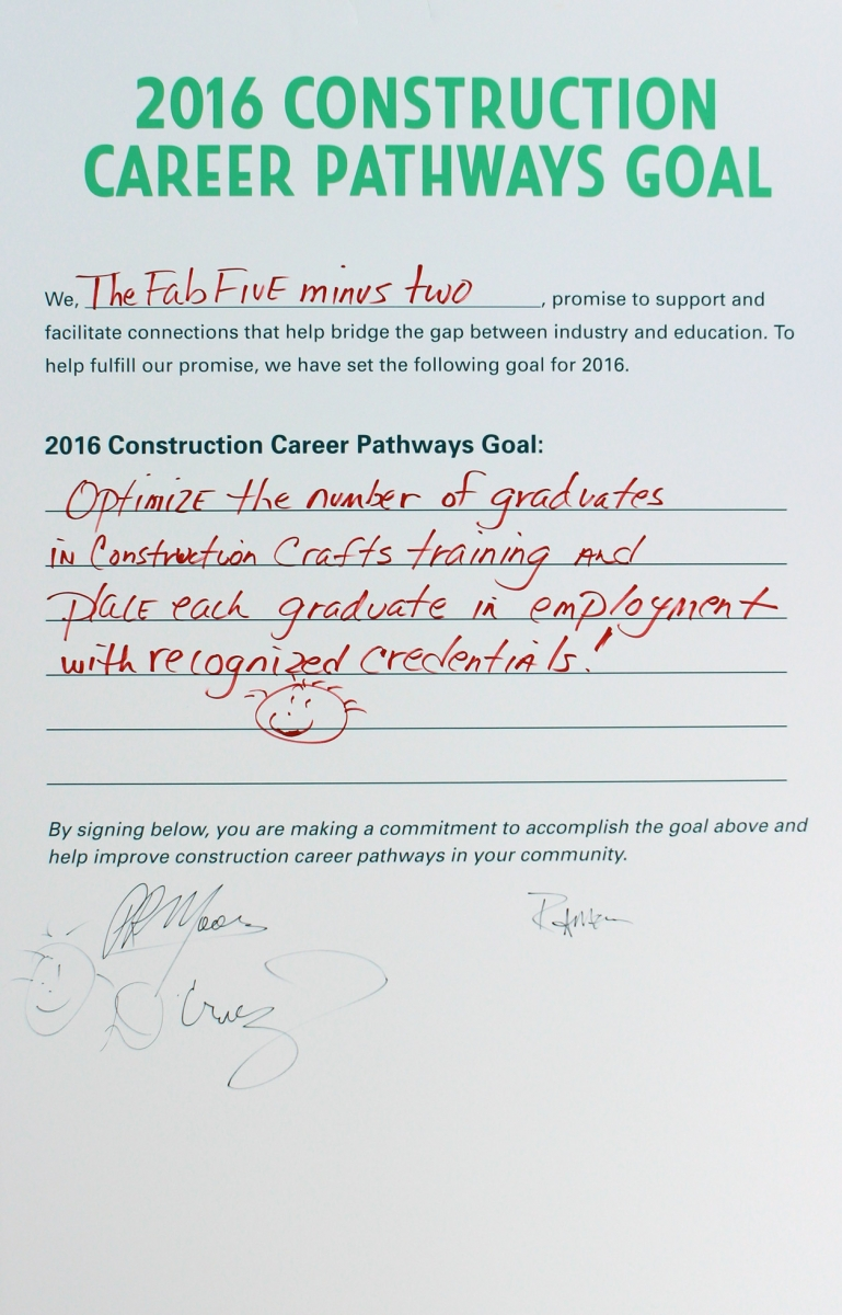 conference summary construction career pathways each of the 19 goals can be viewed here